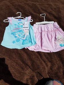 Elsa 2 PC summer skirt and tank set size 5T