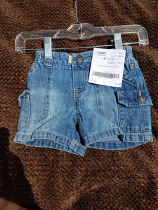 Boys denim cargo shorts size 6 months