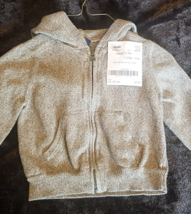 BABY GAP grey knit zip up hoodie boys 12-18m