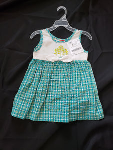 Fisher price size 18mo sleeveless dress. White top and blue plaid skirt