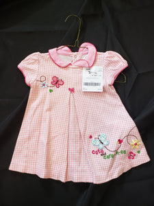 Child of mine size 18mo pink and white checkered dress