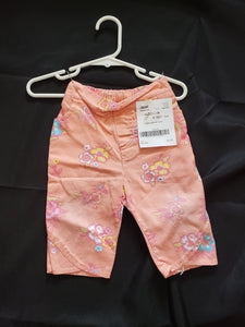 Peach size 18mo capris with flowers
