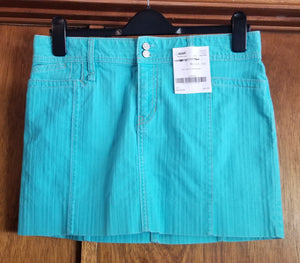 GAP SZ 10 juniors teal jean skirt