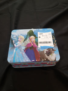 Frozen puzzle in a lunch box