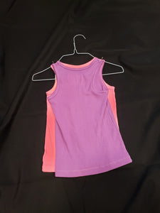 2 Faded Glory size 5T sleeveless shirts. 1 pink and 1 purple