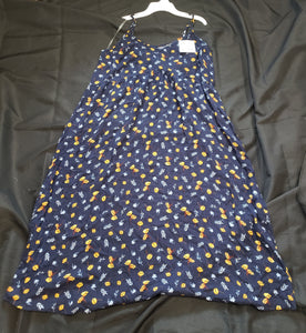 Universal thread size large blue sleeveless dress with flowers. New with tags
