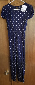OLD NAVY blue short sleeve romper w/daisies, girls 10-12