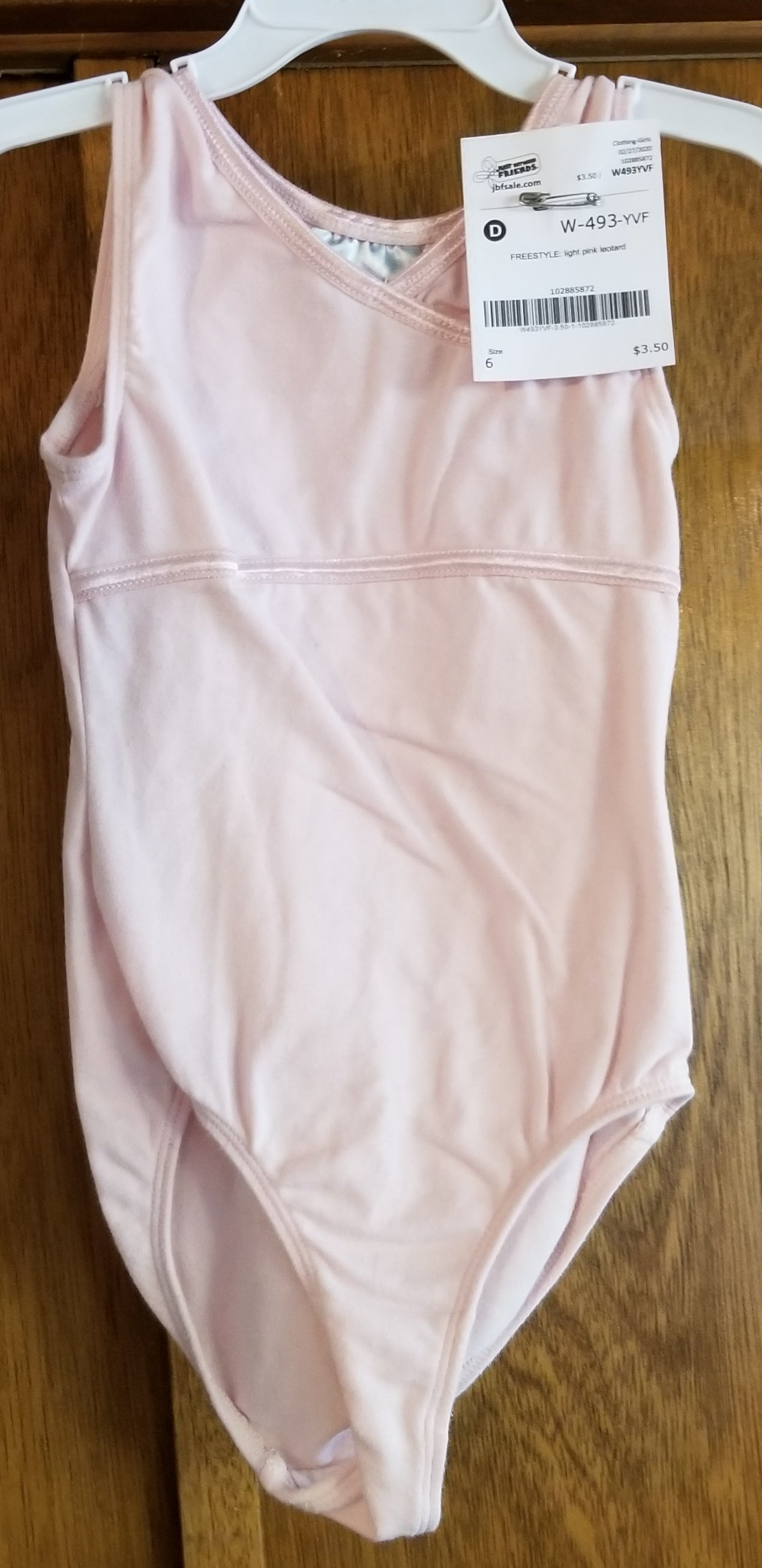 FREESTYLE light pink leotard girls 6