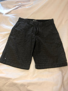 MICROS Gray Shorts, small weave pattern, Size 16