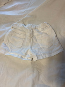 GYMBOREE White Shorts with colorful embroidery on front, Size 7