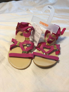 GYMBOREE **NWT** Pink and Gold Sandals Size 12