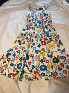 HANNA ANDERSSON Tank Dress White w/ flowers, size 130 cm US 8