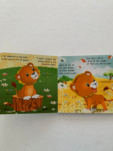 Baby Lion board book- Life in the zoo and in the jungle