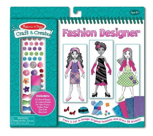 MELISSA & DOUG Craft & Create Fashion Designer NEW