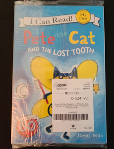 "I CAN READ - My First Reader (Shared Reading): ""Pete The Cat Too Cool For School"" & ""Pete The Cat and The Lost Tooth"""