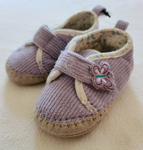 CARTERS fabric booties, infant size 3 / 4