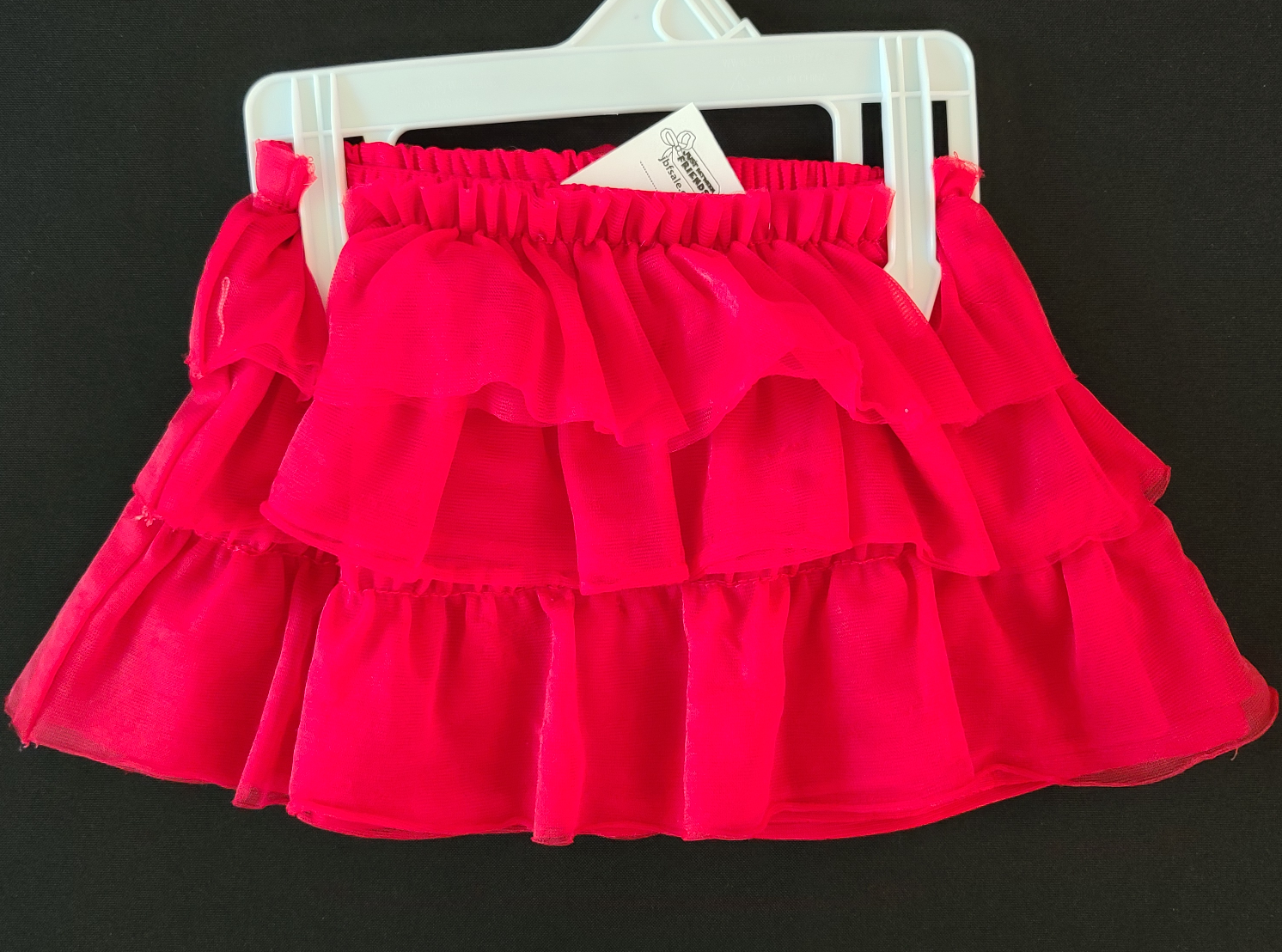 FADED GLORY red ruffle skirt; Girls 12m
