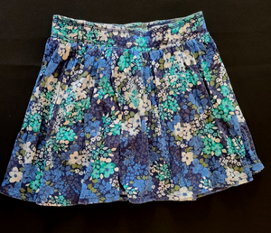 OLD NAVY Blue floral knit skirt; Girls 8