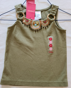 *NWT* GYMBOREE beaded tank top, Size 3T