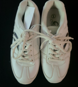 CHASSE white CHEERLEADING shoes; Girls size 2