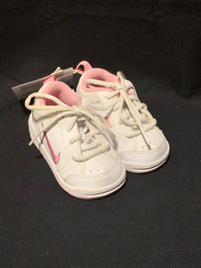 Nike white & pink baby sneakers. Size 3