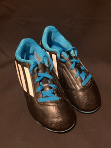 Adidas black & blue soccer cleats, Size 12