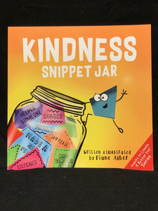 Kindness snippet jar, paperback book