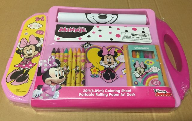 Disney Jr  Portable Rolling Paper Art Desk - Mickey Mouse - New!