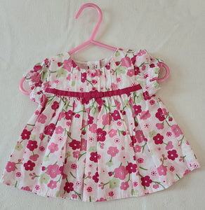 GYMBOREE short sleeve floral dress, infant girls size 3-6 months