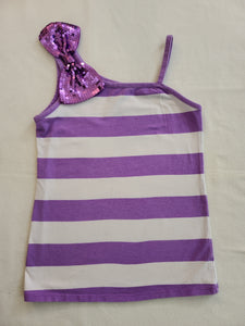 JUSTICE off-shoulder tank top, Girls Size 8