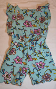 Genuine Kids blue floral romper size 3