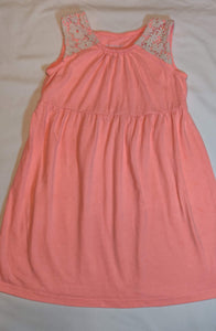 HEALTHTEX neon orange/pink dress size 4