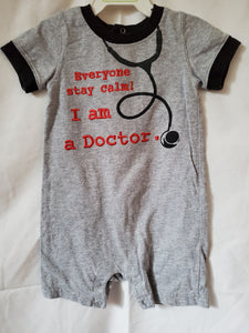 KOALA KIDS 9m Stay calm I'm a Doctor romper