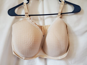 GILLIGAN & OMALLEY 36DDD NURSING BRA white/tan