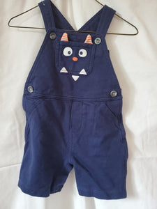 CARTERS 18M Blue monster overalls