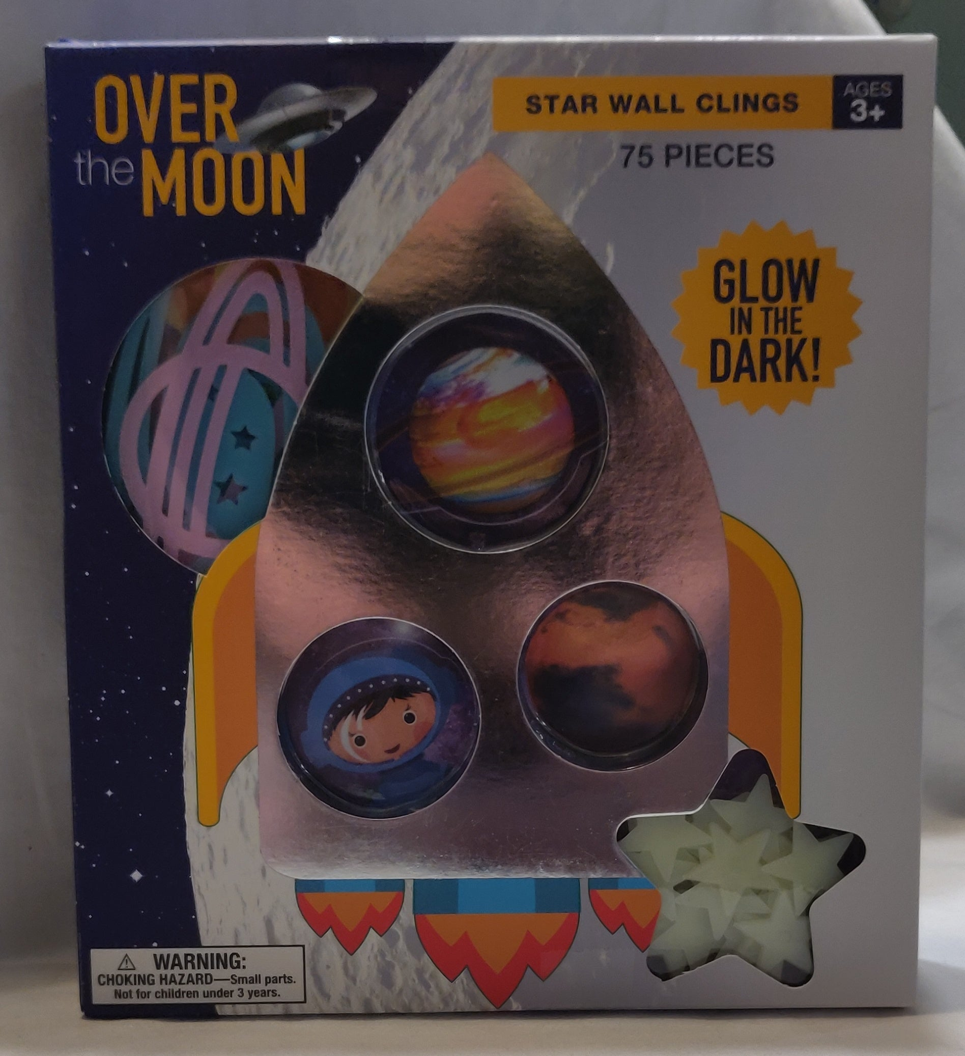 OVER THE MOON star wall Clings