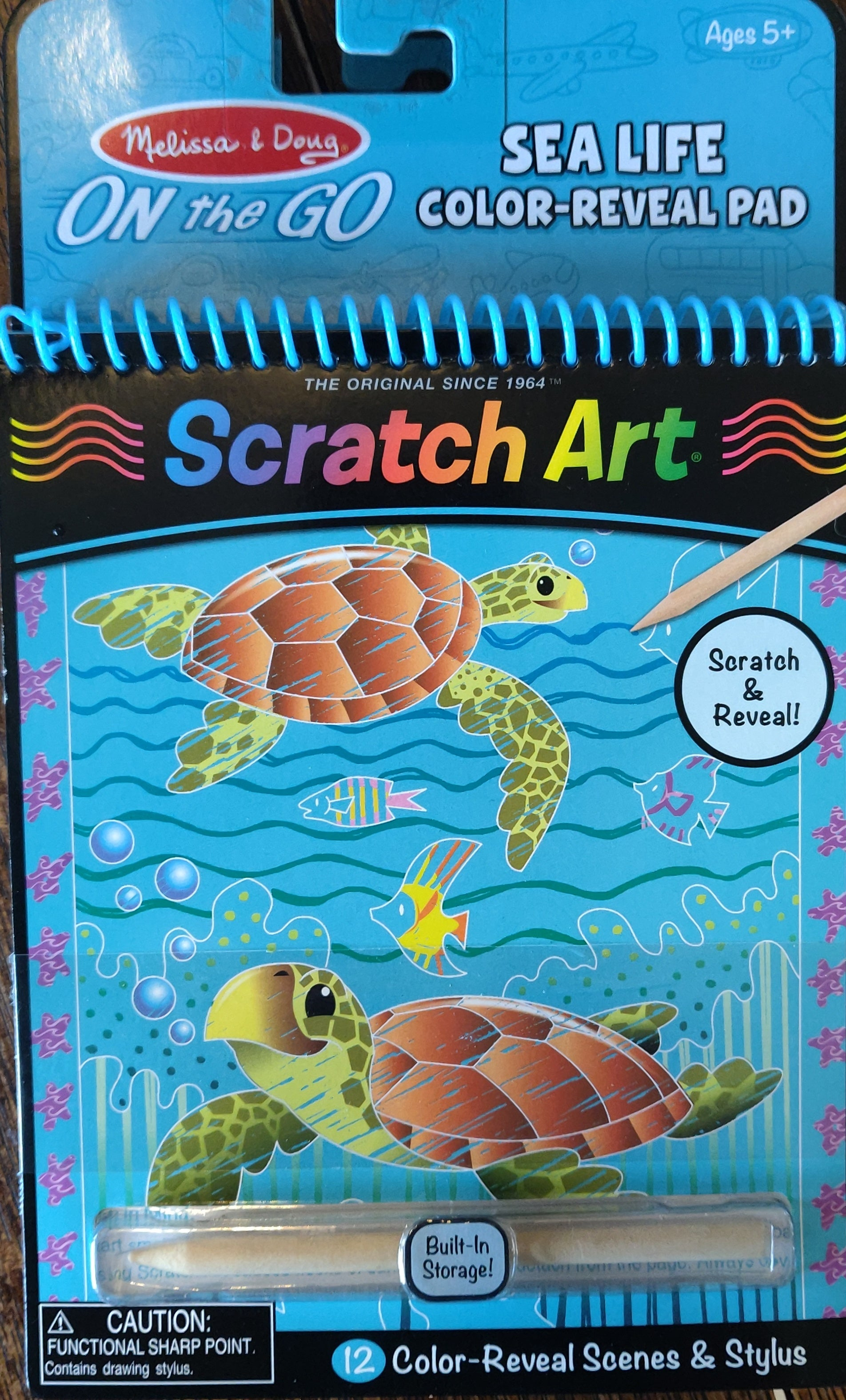 MELISSA & DOUG color reveal scratch art- 2 options