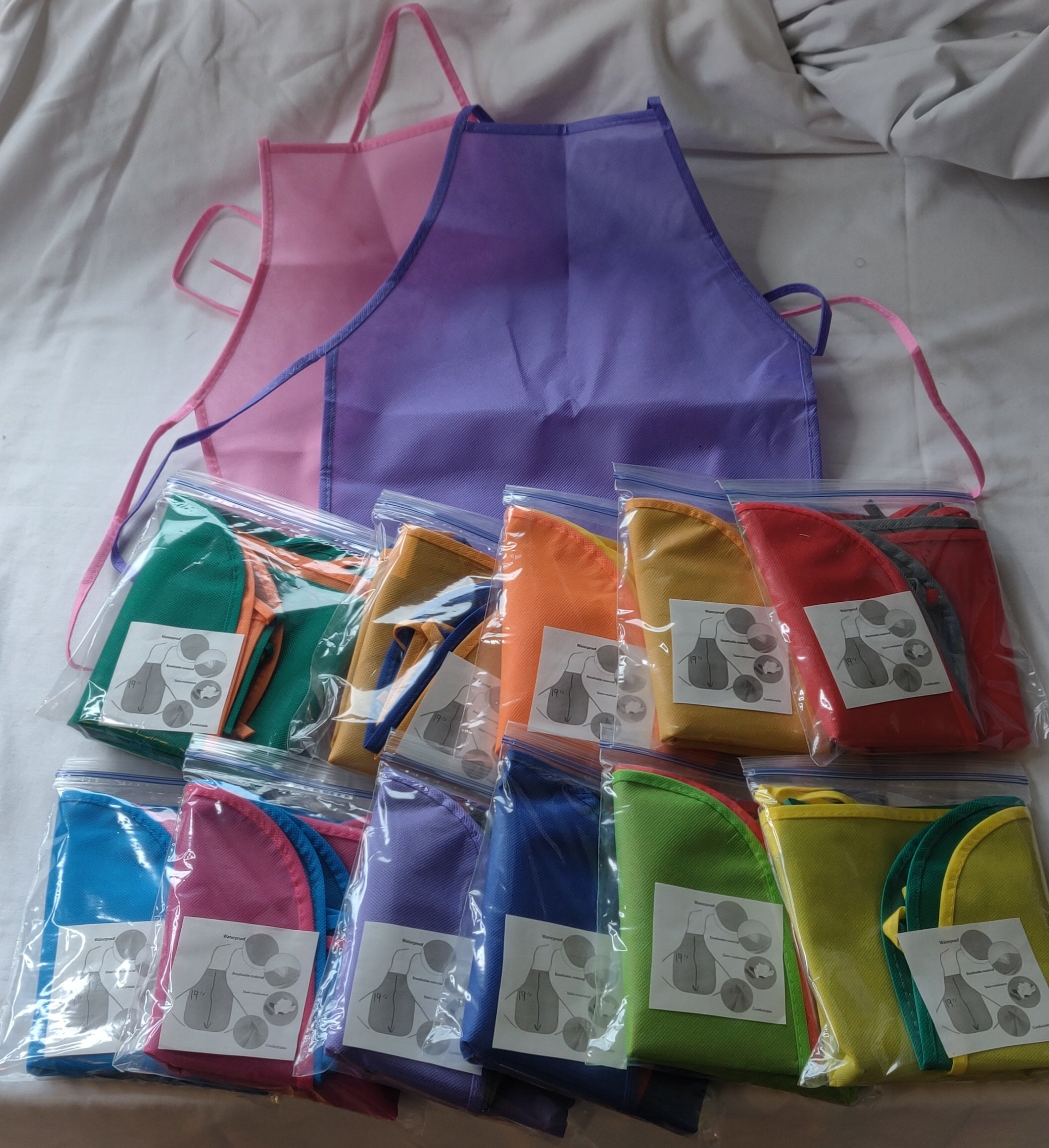 CAYDO Kids Aprons - Set of 2 - 12 variations - NEW