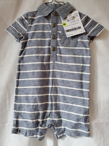 OLD NAVY 12-18 ROMPER BLUE/WHITE STRIPE