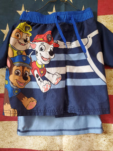 2PC 4T NICK JR. PAW PATROL swim set shirt/shorts