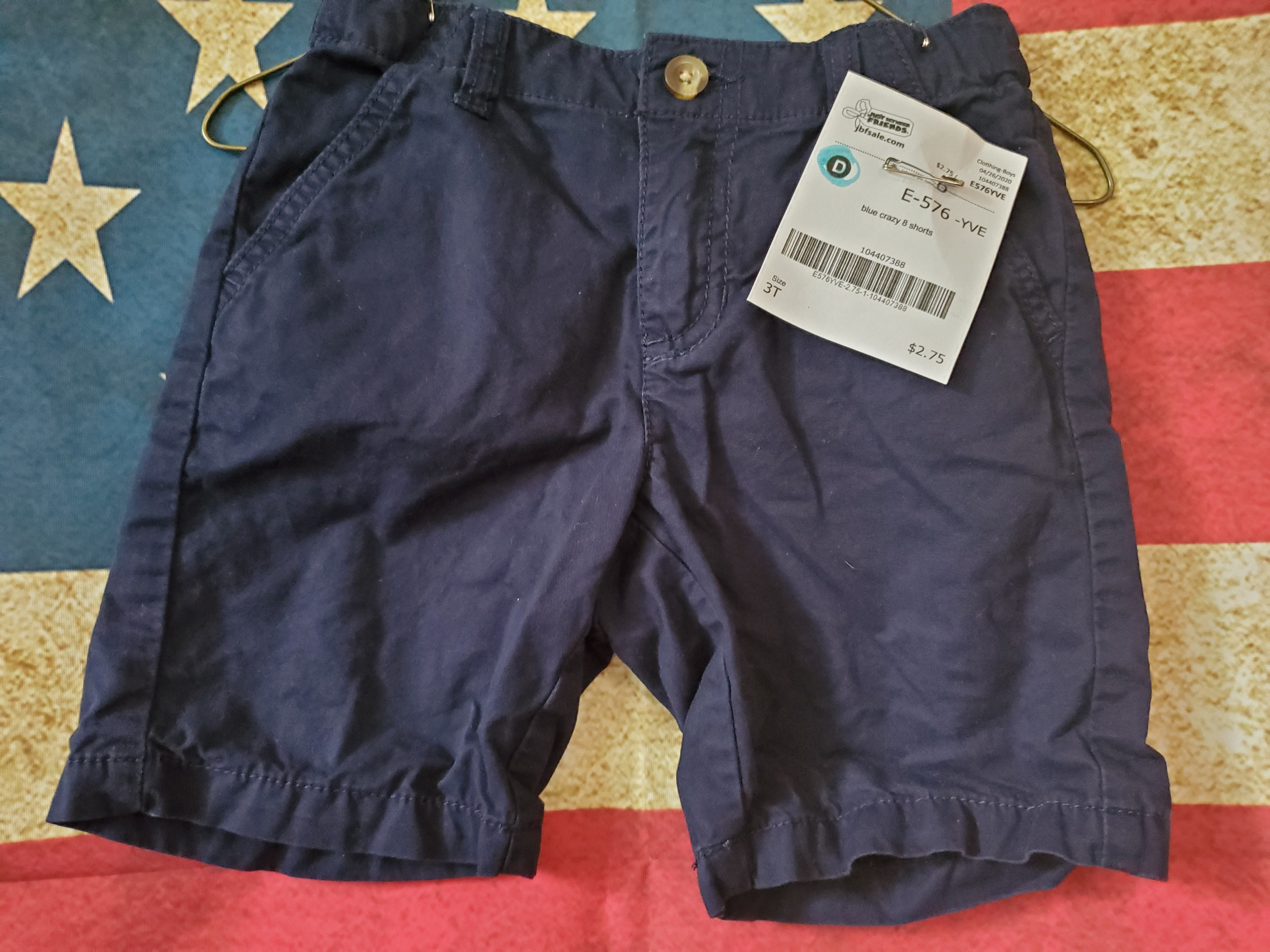 3T CRAZY 8 blue shorts