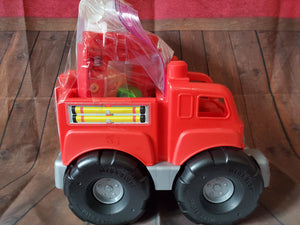 Mega blocks Red fire truck w/ ladder & 4 fire related blocks