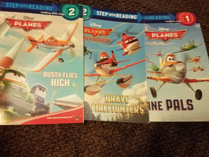 Disney Planes 3 ct early reader books bundle