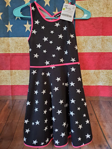 KIDPIK Size 10 black/pink dress w/ white stars