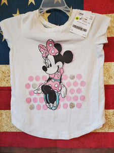 DISNEY Size 7/8 white minnie mouse shirt