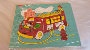 Schylling Fire Engine wood puzzle
