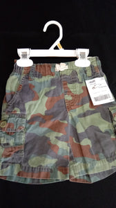 CARTERS green camo cargo shorts. Size 3T boys