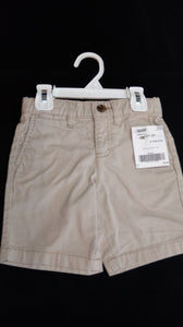 OLD NAVY tan shorts. Size 3T boys