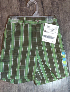 GYMBOREE *NEW* green plaid shorts: 12-18m