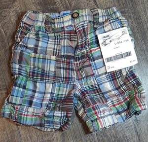 CHILDRENS PLACE plaid shorts: 24m